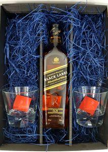 Whisky Set / Geschenkset - Johnnie Walker Black Label Scotch Whisky 0,7l 700ml (40% Vol) + 2x Tumbler
