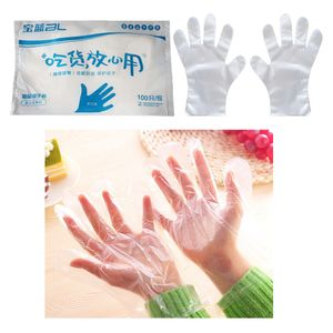 100 Stücke Einweg Handschuhe, latex- und puderfrei, Folienhandschuhe Plastikhandschuhe Einmalhandschuhe für Küche, Lebensmitteln