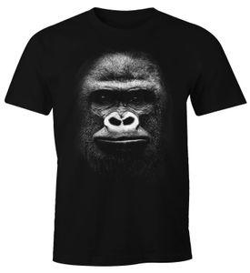 Herren T-Shirt 3D Gorilla Gorillakopf Fun-Shirt Moonworks®  3XL