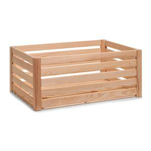 """Zeller Aufbewahrungs-Kiste """"Leisten"""", Kiefer, 60 x 40 x 24 cm, 13363"""