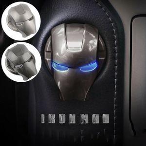 2x Iron Man Start Stopp Knopfabdeckung, Aluminiumlegierung Schutzhülle, Automatischer Startknopf Aufkleber Dekorativer Ring