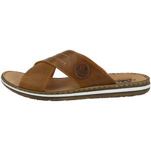 Rieker 21075-25 Herren Schuhe Pantoletten Clogs Weite G, Größe:44 EU, Farbe:Braun