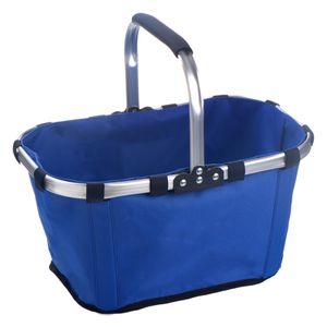 22L Faltbar Einkaufskorb mit Aluminiumrahmen weich Griff Kühltasche Kühlkorb Picknick Korb Isoliertasch Picknickkoffer