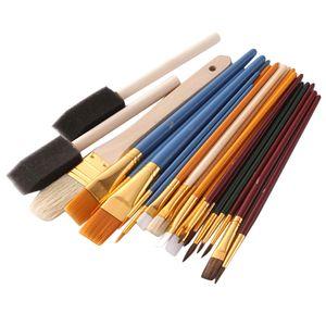 25 Stück / Set Pinsel Set Sortierte Künstlerpinsel Set Acrylpinsel Bürste Set für Aquarell Acryl Ölgemälde