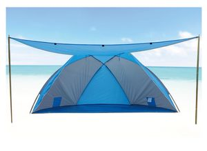 EXPLORER Strandmuschel Beach Camping Windschutz Modell 46254 - mit Sonnendach