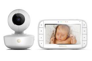 """Motorola MBP55 Video-Babyphone mit Schwenk-& Zoomfunktion und GRATIS StarGrip, Baby Monitor mit 5"""" Display, Wireless Digital HD Video mit Infrarot-Nachtsicht, 300 m Reichweite"""
