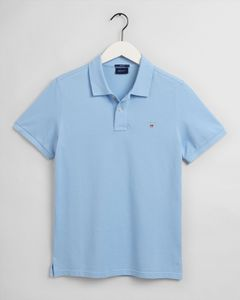 Gant Herren Kurzarm Poloshirt Original Pique Rugger, Größe:XL, Farbe:Hellblau(468)