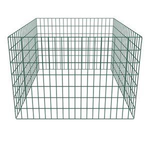 SIRUITON Gartenkomposter Quadratmaschen 100 X 100 X 70 cm