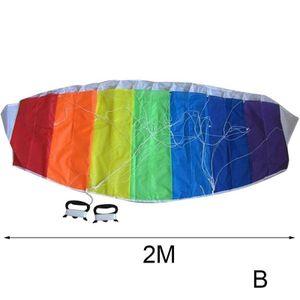 2 m (B) $ Spur Software-Regenbogen-Lenkdrachen Stunt ENERGIE Sport-Drachen