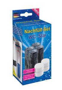 WC-Star – 8er - Nachfüll-Set für den WC-Star, (Wasserkastensteine, Blauspüler)