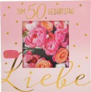 Geburtstagskarte Klappkarte 3D mit Musik & Licht Zum 50. Geburtstag alles Liebe