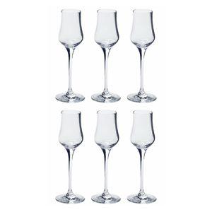 LEONARDO 061452 Ciao+ Grappakelch, Glas, 80ml, H 18 cm, klar (6 Stück)