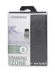 Brabantia Bügelbrettbezug D, 135 x 45 cm, 2 mm Schaumstoff, HRPZ, Baumwolle, Verblassende Linien, Parking Zone