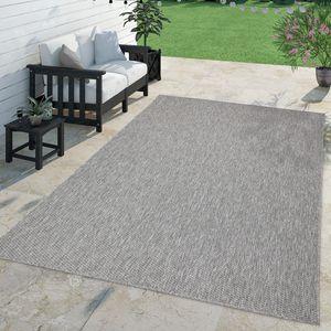Teppich Für Outdoor Küchenteppich Balkon Terrasse Unifarbenes Design Modern, Farbe:Grau, Größe:300x400 cm