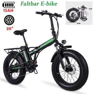 Faltbar Fatbike E-Bike Elektrofahrrad Mountainbike Trekkingrad Citybike Elektrofahrräder 20 Zoll Pedelec E-Bikes Klapprad 7 Gänge
