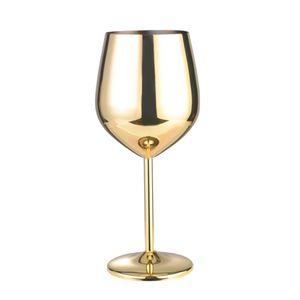 Edelstahl Weinglas gold Weißweingläser Champagnergläser Weinbecher Geschenk für Weihnachten
