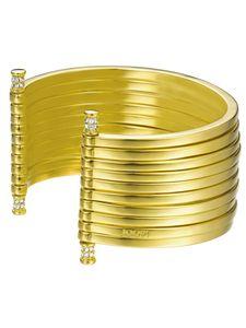 Joop Damen Armreif Edelstahl Gold STRIPES JPBA00001B580