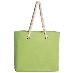 Strandtasche XXL Groß 45 x 18 x 35 cm Strand Tasche Shopper Einkaufstasche Hellgrün