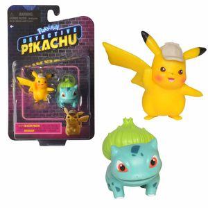 Auswahl Spiel-Figuren | Pokemon | Meisterdetektiv Pikachu | Mini Figuren, Spielfigur:Meisterdetektiv Pikachu & Bisasam