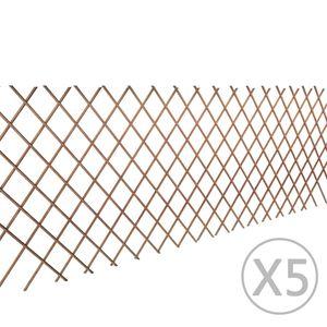 vidaXL Weidenzaun 5 Stk. 180x90 cm