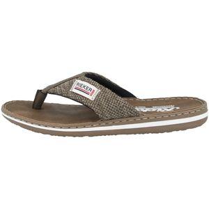 rieker Herren Zehentrenner Braun Schuhe, Größe:43