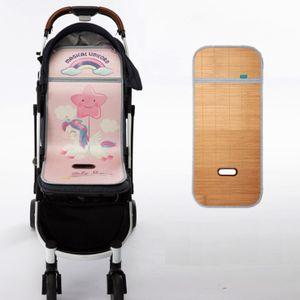 Sommer Kinderwagenauflagen Universal Sitzauflage für Kinderwagen  Buggy Kindersitz Babyschale kühlung Sitzeinlage für kinderwagen Bambusmatte Eisseide Cartoon Sitzeinlage 33*75cm 05