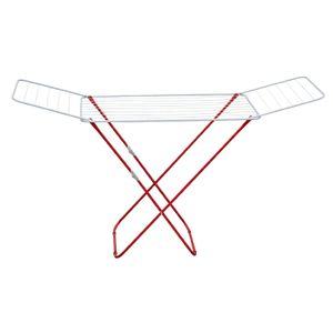 Highliving Wäscheständer. Wäschetrockner Standboden, 20 Meter rote Farbe