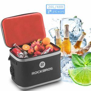 ROCKBROS Kühltasche 20L Picknicktasche Lunchtasche Isoliertasche Wasserdichtbis zu 48 Stunden Kalt halt, 30-Cans,