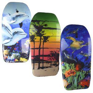 Bodyboard 94 cm Schildkröte, Delphin oder Strand Pool Schwimmbrett für Kinder, Motiv:Strand