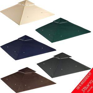 freigarten.de Ersatzdach für Pavillon 330 cm x 330 cm Sand Antik Pavillon Wasserdicht Material: Panama PCV Soft 370g/m² extra stark Modell 10 (Dunkelblau)