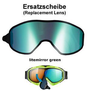 Uvex Ersatzscheibe Magnetscheibe litemirror green für Skibrille g.gl 300 Take Off  Goggle