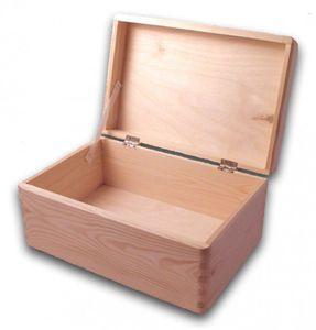 große Aufbewahrungsbox/ Holzkiste mit Deckel Kiefer unbehandelt