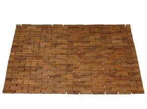 Badvorleger, Badematte 50 x 70 cm, Bambus