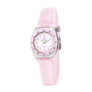 Calypso Kunststoff PUR Jugend Uhr K6043/B Armbanduhr rosa Analogico D2UK6043/B