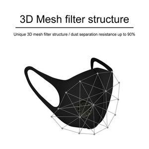 10 beschlagfreie und staubdichte dreidimensionale Schwammmasken mit Atemventil + 10 runde blaue Maskenpads senden