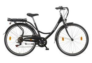 Teutoburg Senne Pedelec Citybike leicht Elektrofahrrad, 28 Zoll, mit 7-Gang Shimano Kettenschaltung, 250W und 10,4 Ah / 36 V Lithium-Ionen-Akku