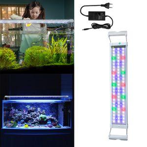 NAIZY LED Aquarium RGB Blau Beleuchtung 11W - Aquarium Pflanzen Lampe mit Verstellbarer Halterung für 50cm-70cm Aquarium (11W,50cm-70cm)