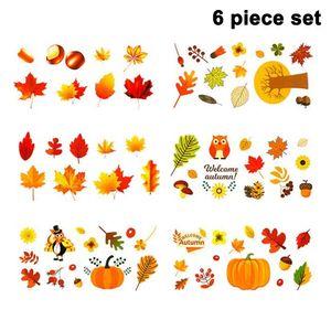 Thanksgiving Fenster Dekorationen Ahornblätter Fenster Aufkleber Herbstblätter Fensterbilder für Thanksgiving Herbst Party Zubehör