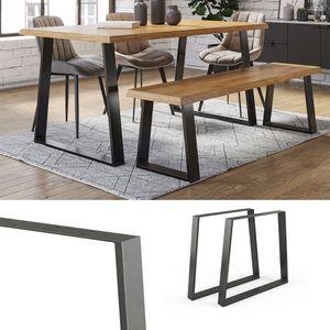 Vicco Loft Tischkufen Trapez 72cm Tischbeine DIY Tischgestell Esstisch Möbelfüße