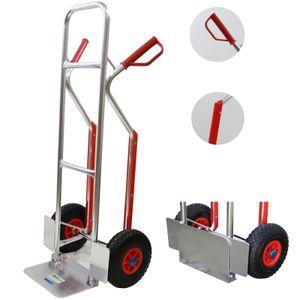 Aluminium Sackkarre mit Treppenrutsche 200 kg Stapelkarre Transportkarre Alu 6,7 kg Leergewicht