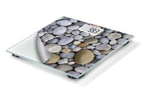 Soehnle Mix & Match Stones, Elektronische Personenwaage, 180 kg, 100 g, kg / lb, Rechteck, Grün, Grau, Weiß