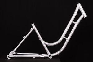 28 Zoll Alu Damen Fahrrad Rahmen City Bike Classic Vintage Retro frame Rh 45cm roh unlackiert Naben Schaltung