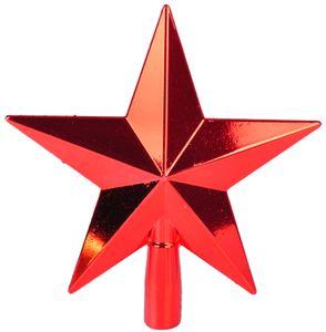 Baumspitze Stern Christbaumspitze Tannenbaumspitze Baumschmuck Weihnachtsdeko, Farbe:rot