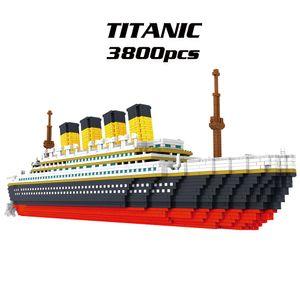 9913 Modell Titanic Atomic Building Blocks Kit 3800er Geschenkspielzeug fuer Kinder