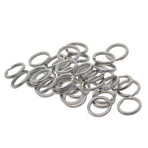 20/50 stücke Split Schlüsselanhänger 0,7x18mm Weiß K Überzogene Stahl 50 wie beschrieben