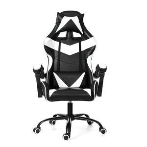 INSMA Gaming Stuhl PC Stuhl Chefsessel Drehbare verstellbare Bürostühle mit hoher Rückenlehne Weiss 2021