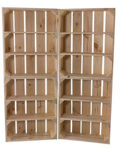 7x Schmaler Beistelltisch aus Holz mit Potenzial für ein kreative Veränderungen, naturfarben, mit 3 Fächern, neu, 40,5x16x50cm