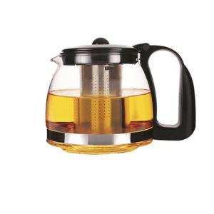 MICHELINO Glas-Teekanne 1250 ml schwarz 11004