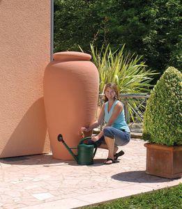 Regentonne 300 Liter Garantia Mediterrane Regen Amphore terrakotta
