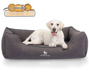 Knuffelwuff Orthopädisches Wasserabweisendes Hundebett Leon XL Anthrazit